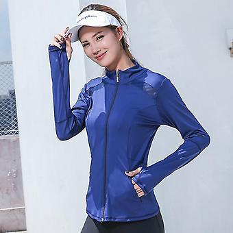 شبكة جديدة تشغيل المرأة سترة الرياضة، الأكمام اليوغا تنفس أعلى قميص الرياضة