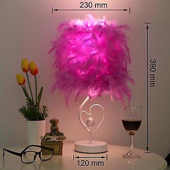 Bedside Reading Room Sitting Heart Shape Crystal Table Lamp For Light Art Deco