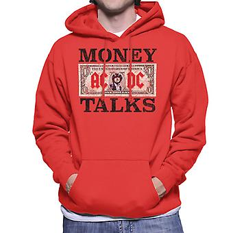 AC/DC Dollar Bill Money Talks Men's Hooded Sweatshirt