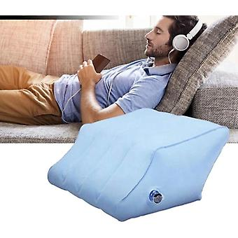 Inflatable Rhombus Leg Pillow Portable Pvc With Pump Body Elevate Feet Knee To