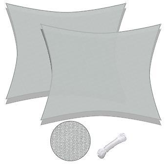 Yescom 2 Pack 20x16 Ft 97% UV Block Rectangle Sun Shade Sail HDPE Cover Net Canopy Yard
