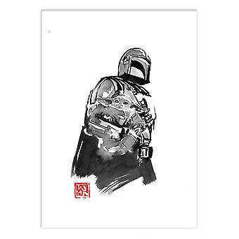 Art-Poster - The Mandalorian Version 3 - Pechane Sumie
