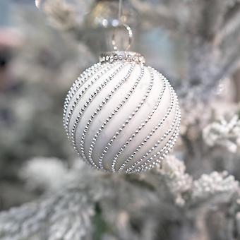The Noel Collection Glass Swirl Christmas Bauble