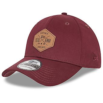 New Era 39Thirty Flexfit Cap - HEX PATCH maroon