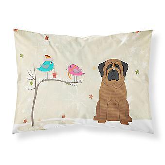 Caroline's Treasures Christmas Presents Between Friends Mastiff Brindle Fabric Standard Pillowcase Bb2487Pillowcase, Multicolor