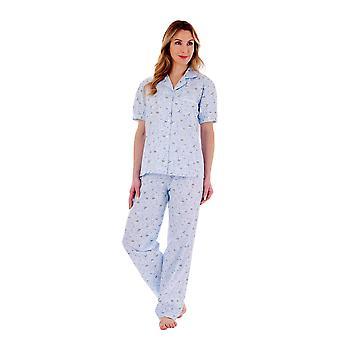 Slenderella PJ77263 Women's Floral Cotton Pyjama Set