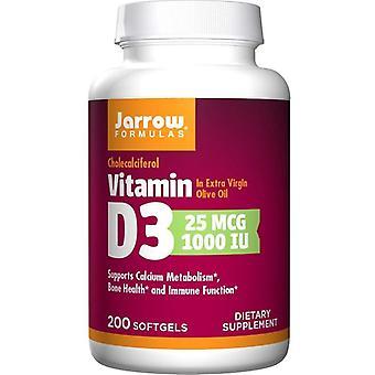ג'רו פורמולות ויטמין D3 1000 IU כמוסות ג'ל 200