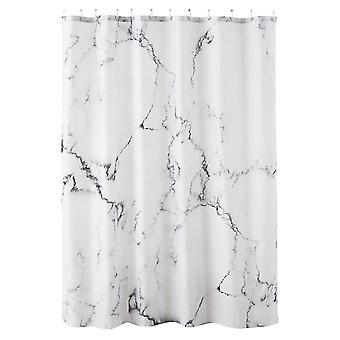 Swotgdoby Marble Printed Opaque Shower Curtain