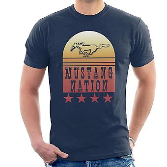 Ford Mustang Nation Gradient Men''s T-Shirt