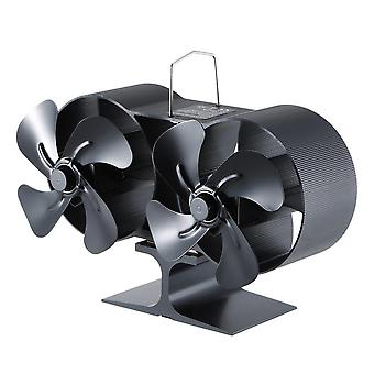 Wood Burning Real Power Fireplace Small Fan  (black)