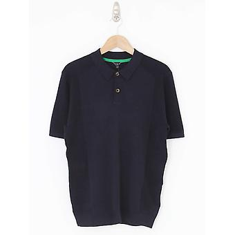 Ted Baker Bump Knitted Polo - Navy