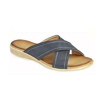 Cipriata Noemi Ladies Mule Sandals Navy Metallic Shimmer