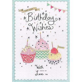 ICG Ltd Open Birthday Card Palladium Range - Cakes