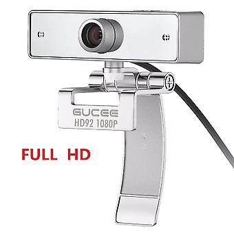 Webbkamera webbkamera för Skype med inbyggd mikrofon 1920 x 1080p USB Plug and Play Web Cam