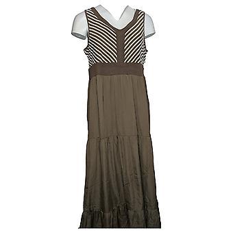 Lisa Rinna collectie jurk Chevron bodice Maxi bruin A308781