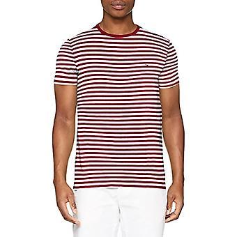 Tommy Hilfiger Stretch Slim Fit T-Shirt, Rot (Rhubarb/Bright White 905), Kleiner Mann