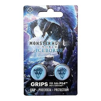 FR-TEC Monster Hunter: Poignées de pouce Iceborn - Compatible avec PS4 PS3 et Xbox 360 - Bleu