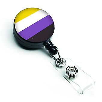 Carolines Treasures  CK7998BR Nonbinary Pride Retractable Badge Reel