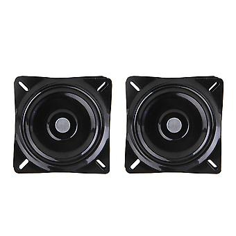 2x Swivel Plate Bar Stool Replacement Seat Turntable Steel Plate 6inch