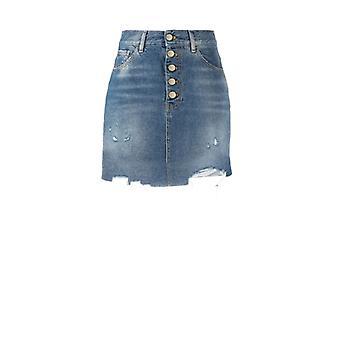 Pinko Minimad Denim Miniskirt
