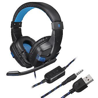 المحمولة للطي 7.1 الصوت المحيطي سماعة الرأس الضوضاء إلغاء سماعة مع ضوء LED لألعاب الكمبيوتر PS4 xbox