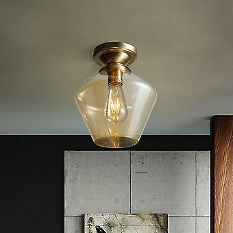 23CM Copper Ceiling Lamp 220V E27 Without Bulb