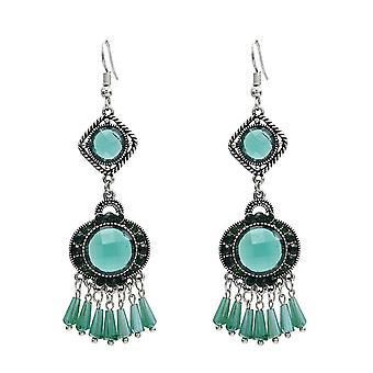 1 Pair Of Women's Ethnic Pendant Earrings Pendant Tassel Hook Hanging(COLOR1)