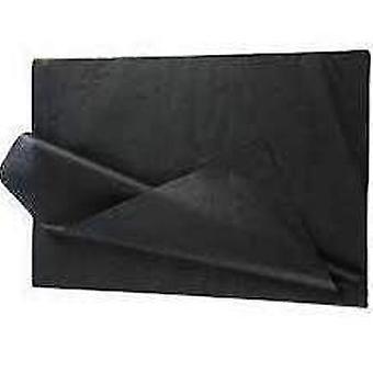25 folhas completas de papel de tecido preto sem dobras | Suprimentos de envoltório de presente