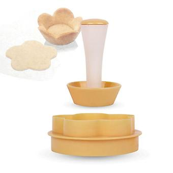 Floral Plastic Cake Cup Mould Set Baking Decorating Cake Cup Molding Machine
