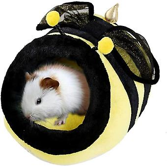 Chinchilla Hedgehog Guinea Bed Accessories Cage Toys Small Pet House(Bee)