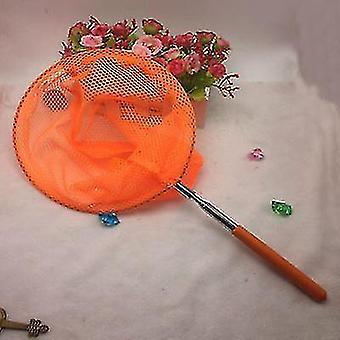 Reti telescopiche in acciaio inossidabile Reti da pesca per bambini e reti per insetti e reti a farfalla (arancione)