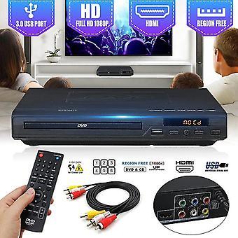 Multi-system 1080p Dvd-soitin Usb 2.0 3.0 DVD Tuki Cd Svcd Vcd Mp3