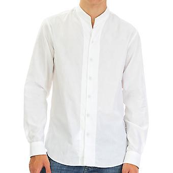 Emporio Armani Men Shirt   Full sleeve White