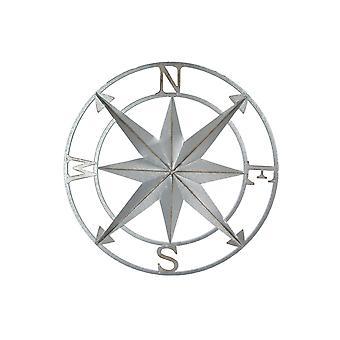 Gegalvaniseerde zink afwerking kompas rose muur opknoping 20,5 inch diameter