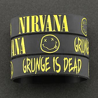 Bracelet Kurt Donald Cobain Rock Band Hip Hop Bangle Silicone Wristband