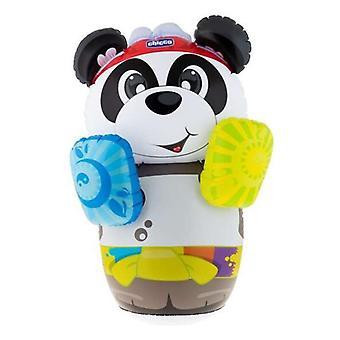 Boxe boxe gonfiabile per bambini con supporto Panda Chicco con suono (60 x 91 x 30 cm)