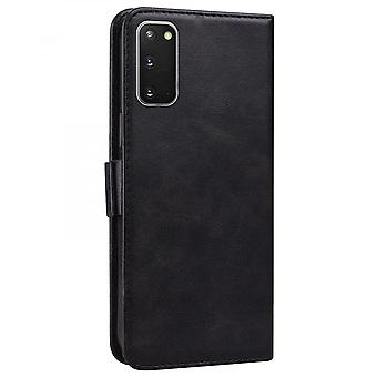 Case For Samsung Galaxy S20 Plus Wallet Flip Pu Leather Cover Card Holder Coque Etui - Black Cat
