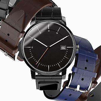 Watch Band Bluetooth Wristband Message Call Reminder Leather Watchband Straps