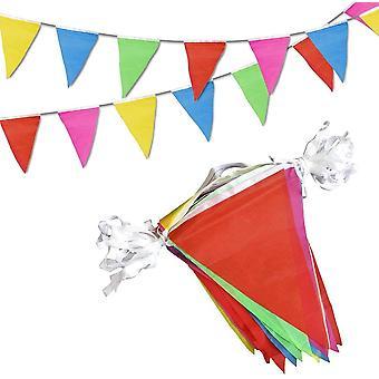 Wimpel Banner 80 meter driehoek Wimpels driehoek dubbele driehoek vlag voor het decoreren van tuin bruiloft verjaardagsfeest indoor outdoor