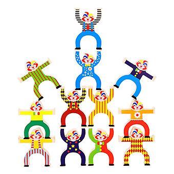 モンテッソーリ積み重ねるおもちゃ木製タンブルブロックW / バランスボール幼稚園幼稚園教育おもちゃ赤ちゃん早期学習