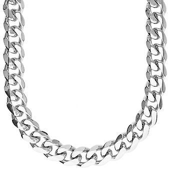 Iskallt ut rostfritt stål CURB set - halsband & örhängen