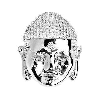 Premium Bling - 925 sterling hopea Buddhan riipus
