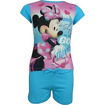 Lányok Disney Minnie egér 2 db set rövid ujjú póló & rövidnadrág