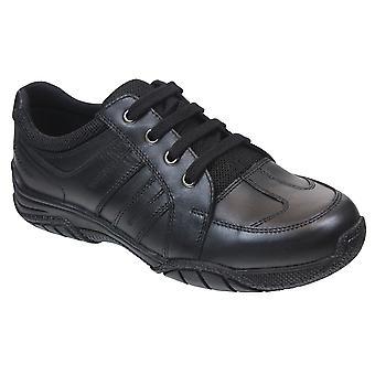 Term Boys Max Lace School Shoes Black