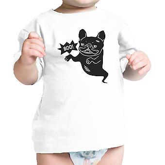 Bulldog francese camicia bambino grafico maglietta neonato di cotone bianco