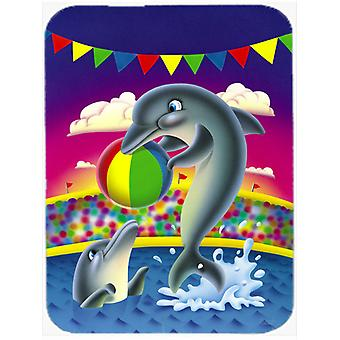 Dolphins performing for the crowds Mouse Pad, Hot Pad or Trivet