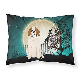 Halloween Scary Saint Bernard Fabric Standard Pillowcase