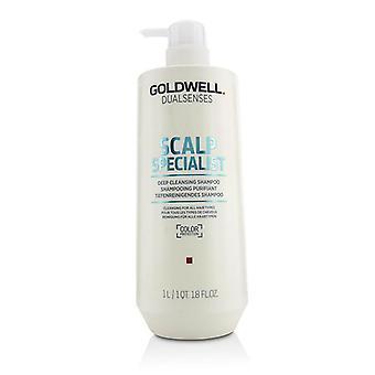 Goldwell Dual Senses especialista em couro cabeludo shampoo limpeza profunda (limpeza para todos os tipos de cabelo)-1000ml/33.8 oz