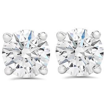 Platinum 1 Ct Diamond schroef terug hengsten