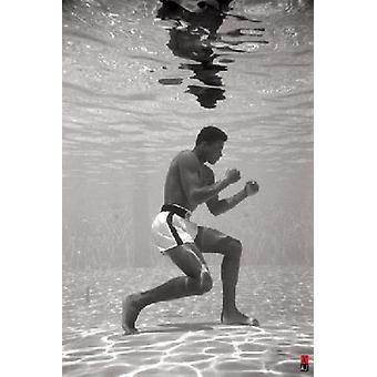 Muhammad Ali Underwater Poster Print Poster Poster Print